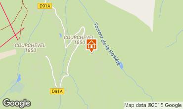 Map Courchevel Apartment 73734
