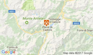 Map Cortina d'Ampezzo Apartment 105108