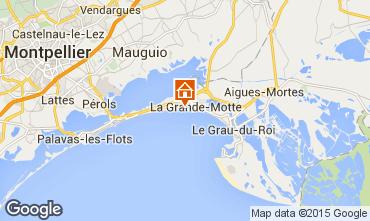 Map La Grande Motte Studio apartment 67260