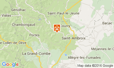 Map Saint Ambroix Self-catering property 104205