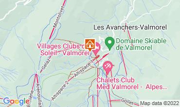 Map Valmorel Apartment 16260