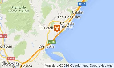 Map La Ametlla de Mar Studio apartment 102805