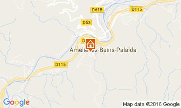 Map Amélie-Les-Bains Studio apartment 106653