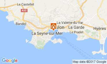 Map Toulon Studio apartment 32099