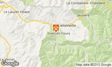 Map Pra Loup Chalet 41298