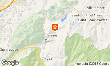 Map Vaujany Apartment 53719