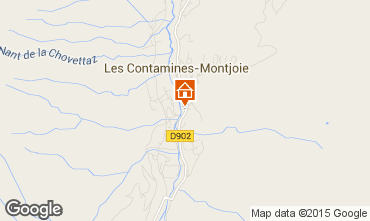Map Les Contamines Montjoie Flat 90508