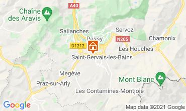 Map Saint Gervais Mont-Blanc Chalet 2611