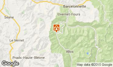 Map Val d'Allos Apartment 31691