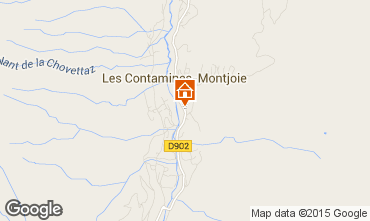Map Les Contamines Montjoie One-room studio flat 73809