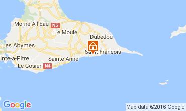 Map Saint Francois Studio apartment 73904