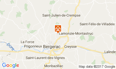 Map Bergerac Self-catering property 107715