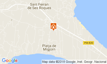 Map Formentera Apartment 112925