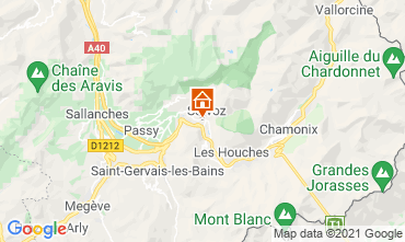Map Chamonix Mont-Blanc Studio apartment 93266