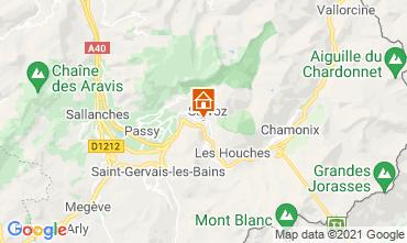 Map Chamonix Mont-Blanc Studio apartment 93266