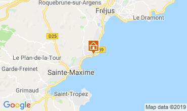 Map Les Issambres Studio apartment 108833