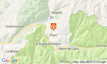 Map Alpe d'Huez Apartment 107207