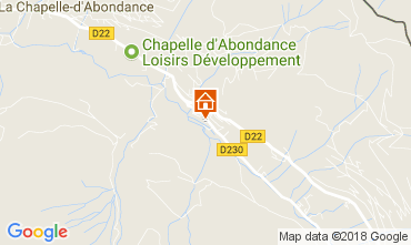 Map La Chapelle d'Abondance Chalet 61959
