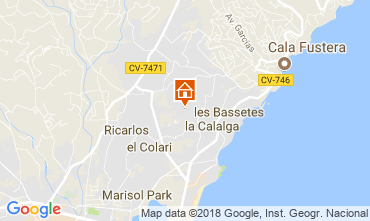 Map Calpe Chalet 115353