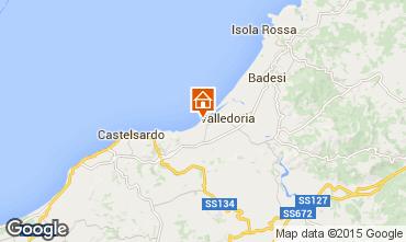 Map Valledoria Apartment 56409
