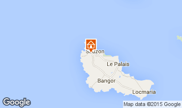 Map Sauzon Self-catering property 27025