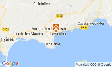 Map Le Lavandou Apartment 113832