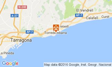 Map Torredembarra Studio apartment 43383