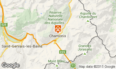 Map Chamonix Mont-Blanc Apartment 28457