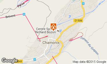 Map Chamonix Mont-Blanc Apartment 28457