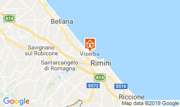 Map Rimini Apartment 118630