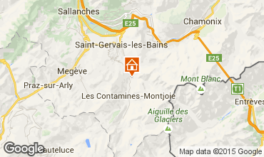 Map Les Contamines Montjoie Chalet 19543