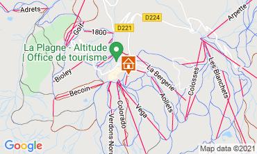 Map La Plagne Chalet 2151