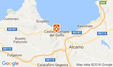 Map Castellammare del Golfo Studio apartment 115676