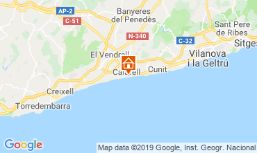 Map Calafell Apartment 117976