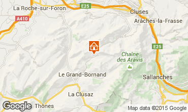 Map Le Grand Bornand Chalet 1390