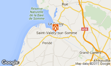 Map Saint Valéry sur Somme Self-catering property 81455