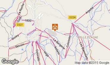 Map La Plagne Chalet 58607