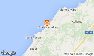 Map Trinità d'Agultu e Vignola Apartment 58656