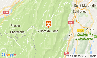 Map Villard de Lans - Corrençon en Vercors Apartment 112217