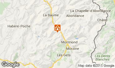 Map Saint Jean d'Aulps- La Grande Terche Apartment 15124