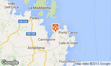 Map Porto Cervo Apartment 29162
