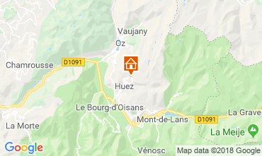 Map Alpe d'Huez Studio apartment 116847