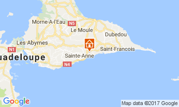 Map Sainte Anne (Guadeloupe) Bungalow 58644