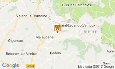 Map Beaumont du Ventoux Self-catering property 12129