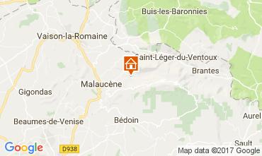 Map Beaumont du Ventoux Self-catering property 12129