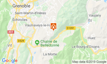Map Chamrousse Apartment 28273