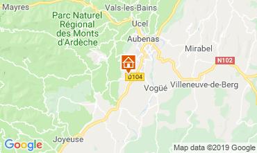 Map Aubenas Villa 117897