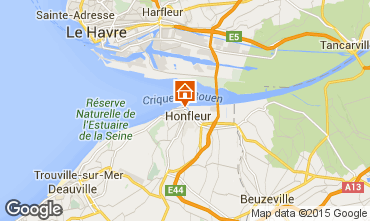 Map Honfleur Apartment 72449