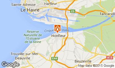 Map Honfleur Apartment 72449