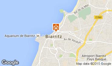 Map Biarritz Studio apartment 93702